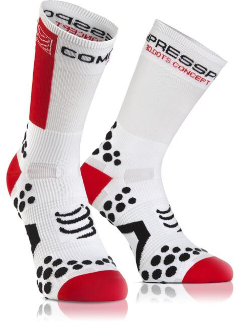 Compressport Racing V2.1 Bike High Socks White/Red
